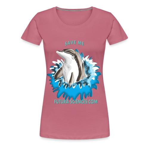 dauphin base 1 fs version 2 turquoise c - T-shirt Premium Femme