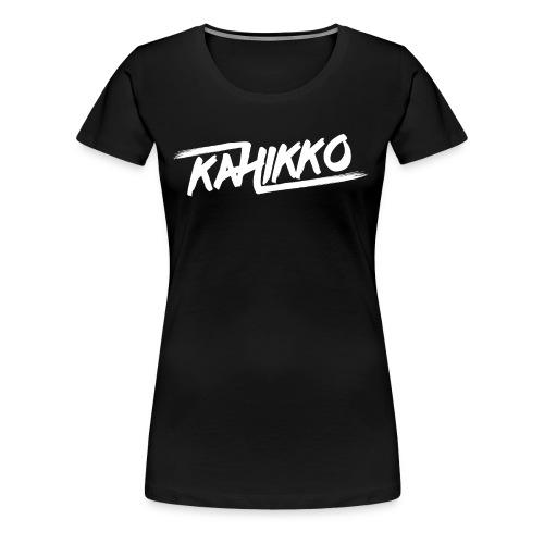 Kahikko Classic Logo White - Naisten premium t-paita