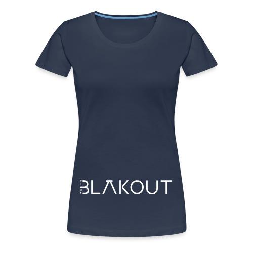 Bläkout -logo valkoinen - Naisten premium t-paita
