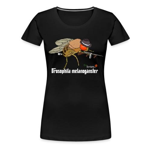 melanoganster camiseta v2 blanco png - Camiseta premium mujer