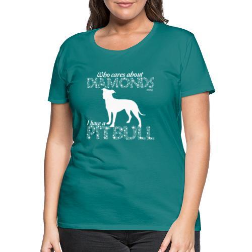 Pit Bull Diamonds - Naisten premium t-paita