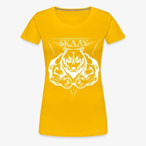 skaay logo white schottdesign png - Frauen Premium T-Shirt