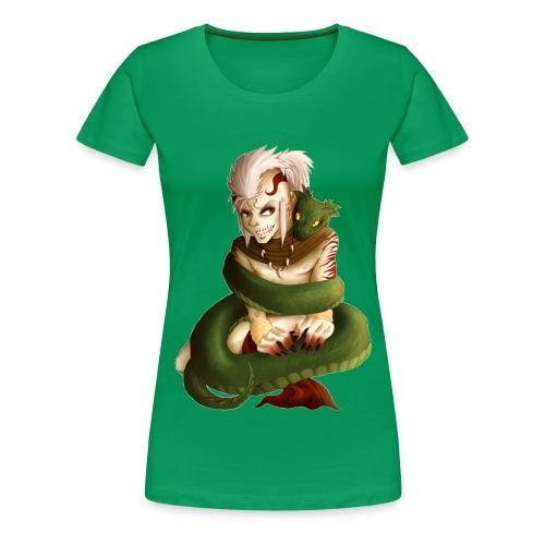 PredatorINTERLACED png - Frauen Premium T-Shirt