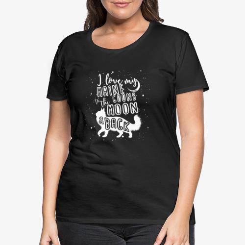 Maine Coon Moon - Naisten premium t-paita