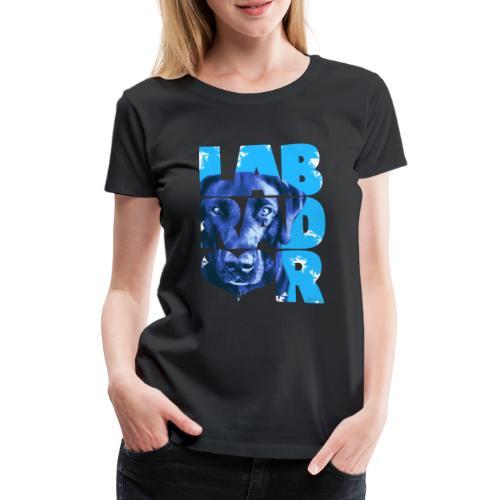 NASSU Labrador Black I - Naisten premium t-paita