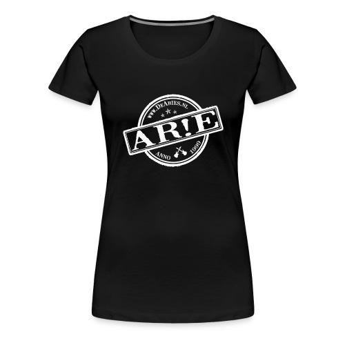 Backdrop AR E stempel aangepast copy gif - Vrouwen Premium T-shirt