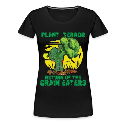 Plant Terror Vegan Zombie - Frauen Premium T-Shirt