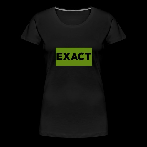 Exact Classic Green Logo - Women's Premium T-Shirt