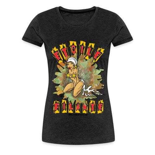 etoile filante texte noir - T-shirt Premium Femme