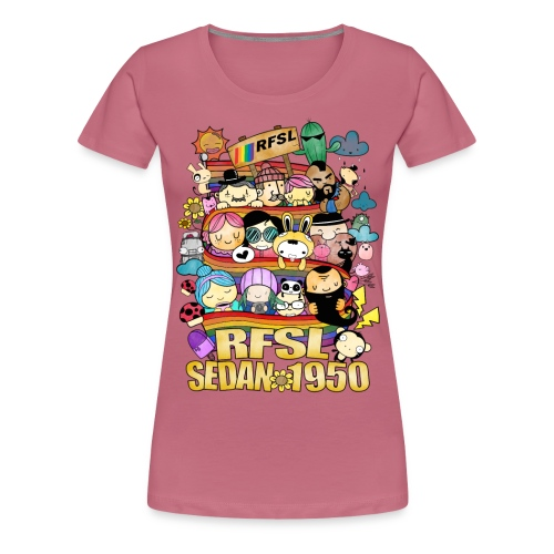 Jubileumsmotiv svart - Premium-T-shirt dam