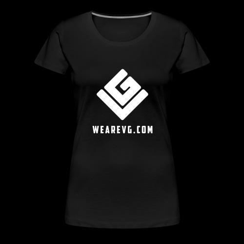 Logo-2 white - Women's Premium T-Shirt