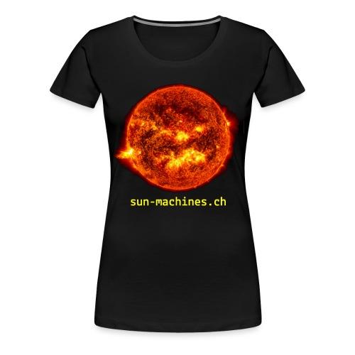 sun-yellow-text - Frauen Premium T-Shirt