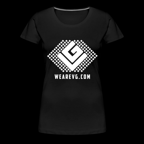 Logo-1 white - Women's Premium T-Shirt