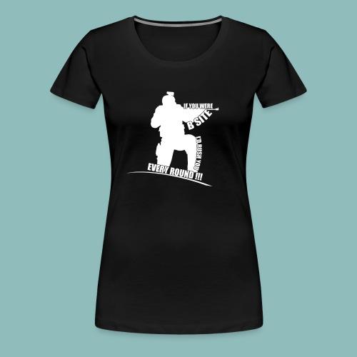 I'd rush you! White Version - Frauen Premium T-Shirt