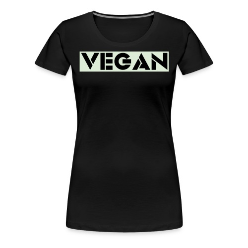 VEGAN IN BOLD - Women's Premium T-Shirt