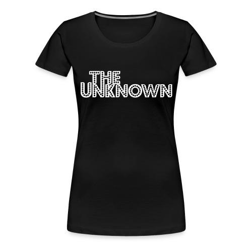 The Unknown Logo white - Dame premium T-shirt