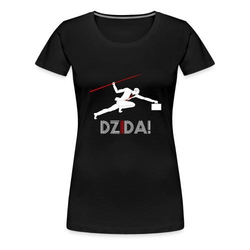 Dzida_wzor_bialy - Koszulka damska Premium