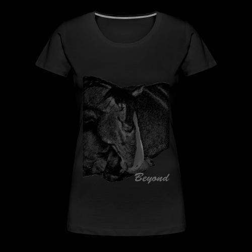 Beyond a relaxed horse - Frauen Premium T-Shirt