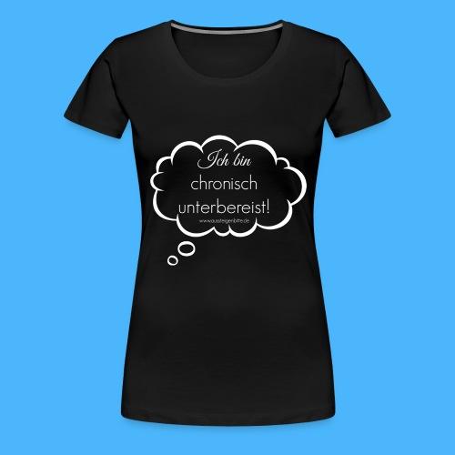 Denkblase Weiß Transparent - Frauen Premium T-Shirt