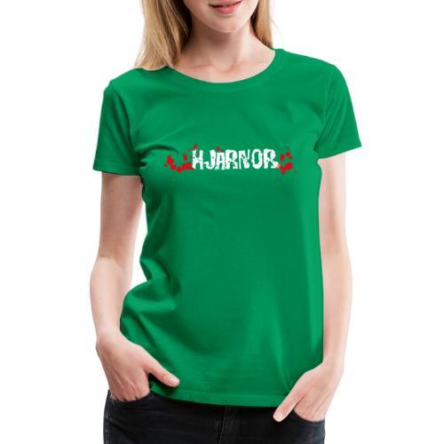 Hjärnor logo vit - Premium-T-shirt dam