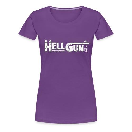 HELLGUN logo 2014 weiss png - Frauen Premium T-Shirt