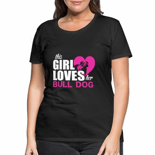 Bulldog love - Women's Premium T-Shirt