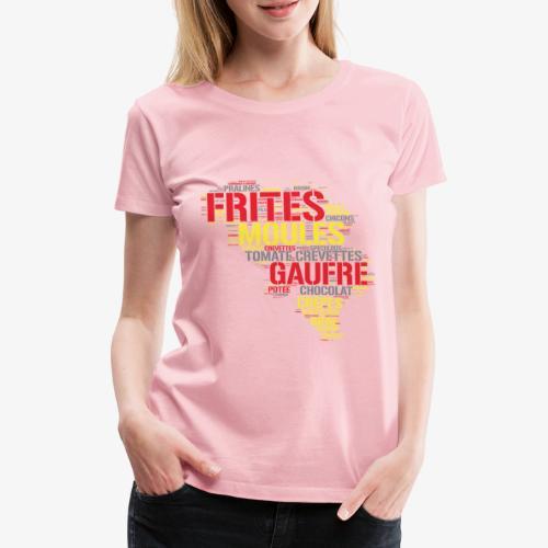 Belgium FR 3 couleurs - T-shirt Premium Femme
