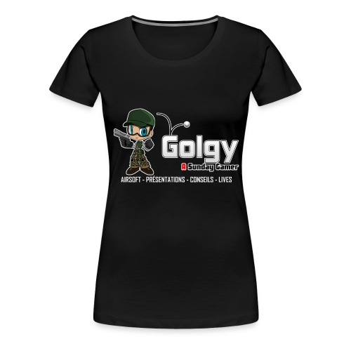 golgy logo 2018 HD V2 - T-shirt Premium Femme