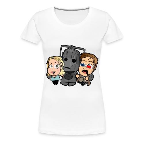 Chibi Doctor Who - Cyberman - Women's Premium T-Shirt