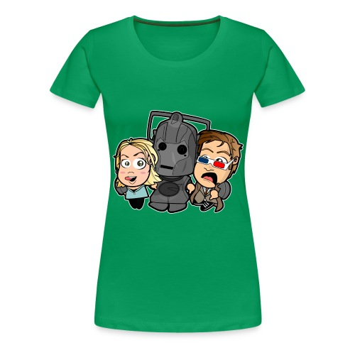 Chibi Doctor Who - Cyberman - Women's Premium T-Shirt