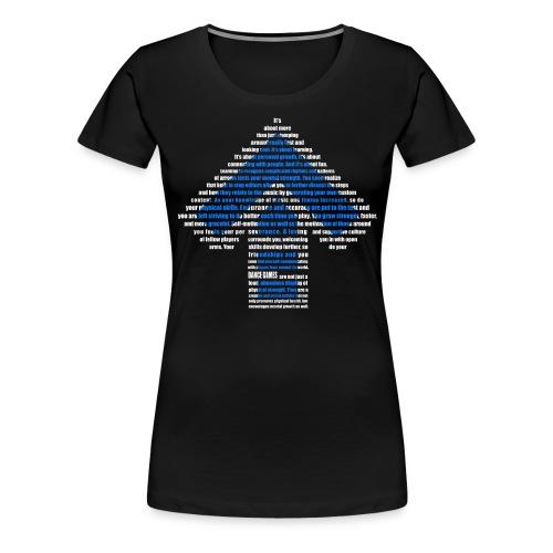 dance games blue white - Frauen Premium T-Shirt