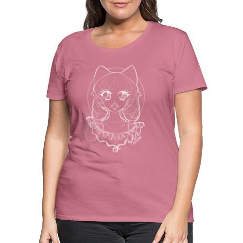 Vampier Lena wit EnChantalled png - Women's Premium T-Shirt