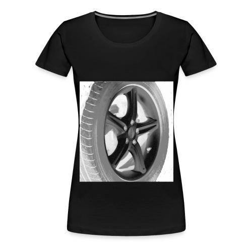 Bil Däck - Premium-T-shirt dam