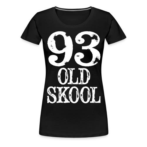93 old skool white gif - Women's Premium T-Shirt