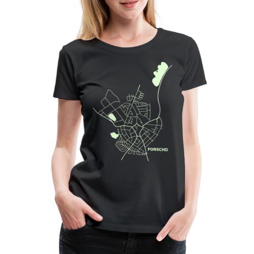 Forschd Karte - Frauen Premium T-Shirt