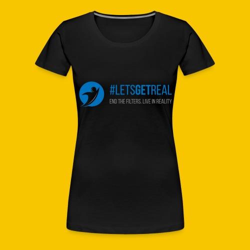 LetsGetReal Logo - Women's Premium T-Shirt
