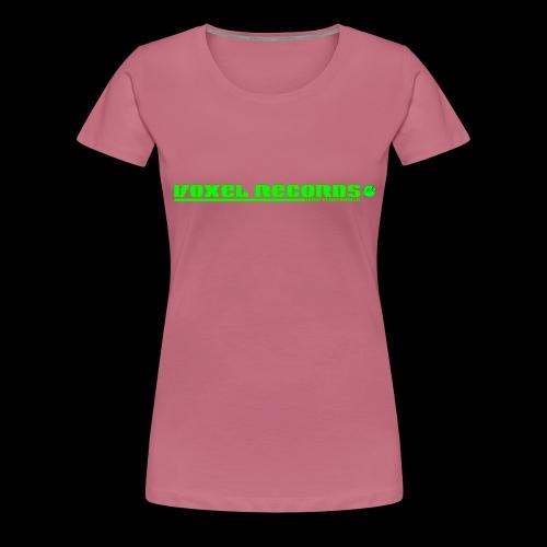 Voxel Records Banner Large - Women's Premium T-Shirt