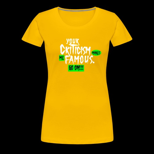 CRITICA 2 - Camiseta premium mujer