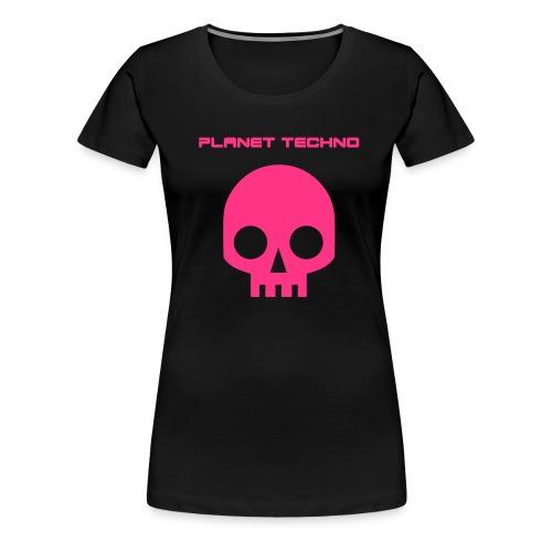 Planet Techno Tee001 - Women's Premium T-Shirt