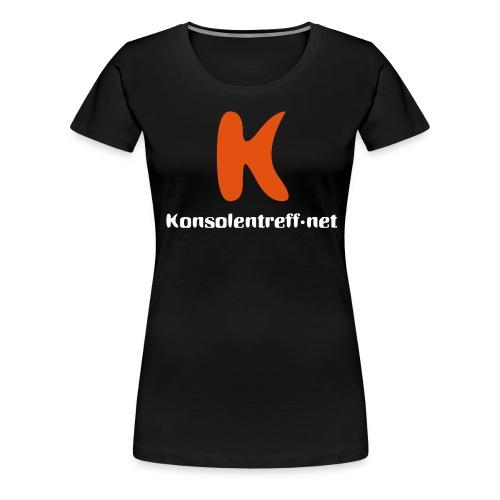 Logo vorne gross - Frauen Premium T-Shirt
