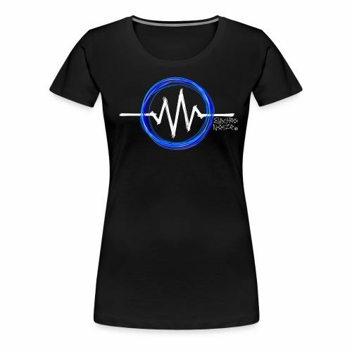 ElectroNoize Logo BLUE PX - Frauen Premium T-Shirt