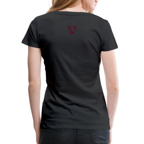 v logo100mm - Frauen Premium T-Shirt