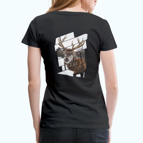 Hipster reindeer - Women's Premium T-Shirt