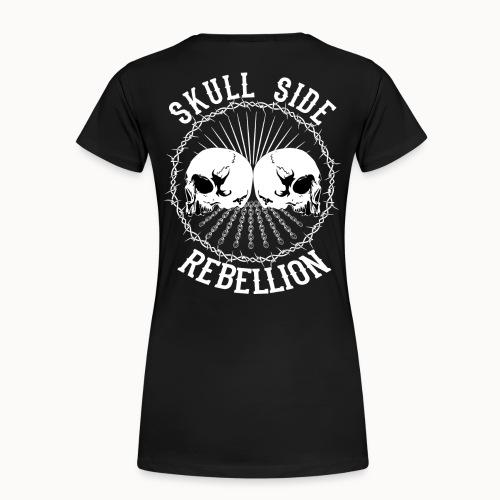 Skull side rebellion - Frauen Premium T-Shirt