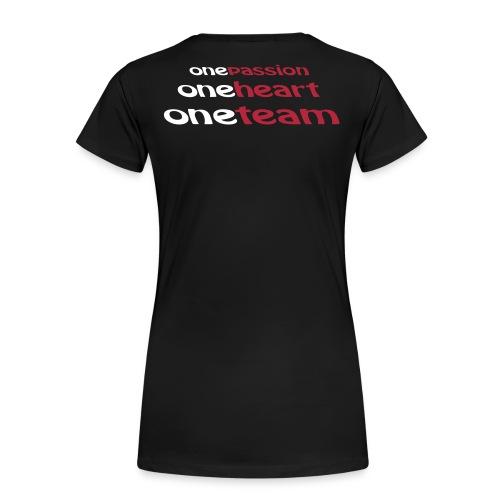teamshirt hinten small - Frauen Premium T-Shirt