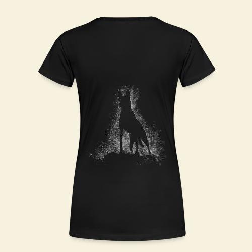 Dog Silhouette - Frauen Premium T-Shirt