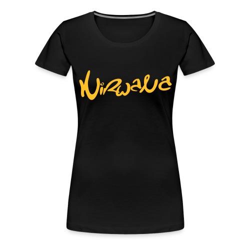 nirwanalogo4 - Vrouwen Premium T-shirt