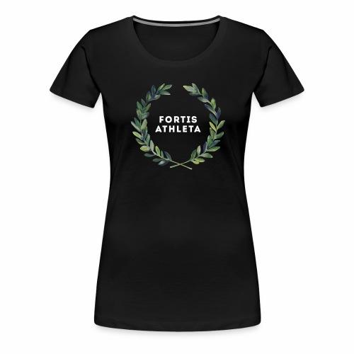 Lorbeerkrankz wei ƒ png - Frauen Premium T-Shirt