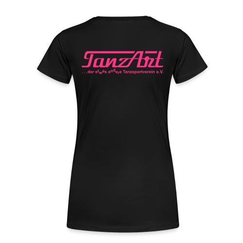 tanzart weiss damen ruecken 25 - Frauen Premium T-Shirt