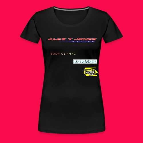 alex t jones racing logo CLEAR BKGD copy png - Women's Premium T-Shirt